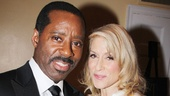 Courtney B. Vance and Judith Light display their Tony Awards for Best Featured Actor in a Play (Lucky Guy) and Best Featured Actress in a Play (The Assembled Parties).