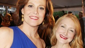 The statuesque Sigourney Weaver and the beautiful Patricia Clarkson come together for a Tony night photo.