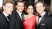 Drood Tony nominee Stephanie J. Block is surrounded by stage actors who have found fame on TV: Barrett Foa, Andrew Rannells and her husband Sebastian Arcelus.