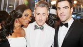 Acclaimed stage stars Audra McDonald, Alan Cumming and Zachary Quinto gather for a red carpet shot.