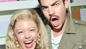 Oh, Sherrie! Adam Lambert jokes around with Rock of Ages star Kate Rockwell.