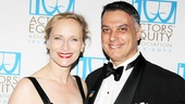 Broadway couple Laila Robins and Robert Cuccioli (currently starring in Spider-Man, Turn Off the Dark) hit the gala together.