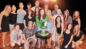 The Wicked cast gathers for a happy group shot after the show's 4,000th performance!