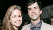 Comedy of Errors star Hamish Linklater spiffs up for an opening night photo with Katherine Waterston.