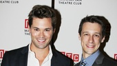 Original Mormon star Andrew Rannells checks out the show with current The Book of Mormon ensemble member Jason Michael Snow.