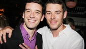 The Glass Menagerie star Brian J. Smith gives a warm embrace to Michael Urie at the after-party.