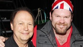 Billy Crystal shares a smile with Kinky player Daniel Stewart Sherman.