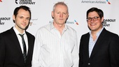 Let's hear it for the boys! Christopher Denham, David Morse and Rich Sommer spiff up for their big opening night.