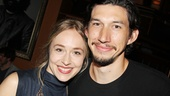 Tom Durnin star Sarah Goldberg reunites with Girls hottie Adam Driver—they both gave killer performances in Roundabout's Look Back in Anger in 2012!