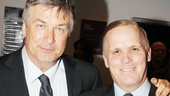 Alec Baldwin is on hand to celebrate opening night of Tom Durnin with director Scott Ellis.