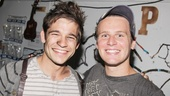 Look at those handsome faces! Jonathan Groff shares a laugh backstage with Jason Ralph, who plays Boy.