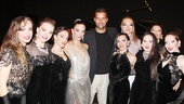 The ladies of Forever Tango surround Martin for this dazzling backstage snapshot.