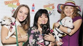 There's plenty of love—and puppies!—to go around for Cinderella stars Laura Osnes, Ann Harada and Victoria Clark.