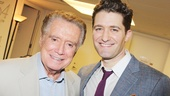 Regis Philbin takes his moment with the man of the hour, Matthew Morrison.