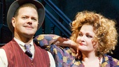 Clarke Thorell as Rooster and Faith Prince as Miss Hannigan in Annie.