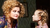 Faith Prince as Miss Hannigan and Emily Rosenfeld in Annie.
