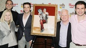 Michael Urie strikes a pose with Buyer & Cellar producers Pat Flicker Addiss, Dan Shaheen, Ted Snowdon and Doug Nevin.