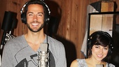 Zachary Levi and Krysta Rodriguez flash a smile as they sing out as blind daters Aaron and Casey.