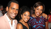 Daniel Breaker, Rebecca Naomi Jones and De'Adre Aziza have a mini Passing Strange reunion at the Public.