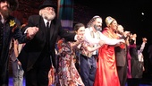 The company of Soul Doctor comes together for their joyous opening night bow at the Circle in the Square Theatre.