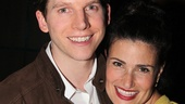 Idina Menzel shares the love with Tony-nominated star Stark Sands.