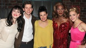 Tony winner Idina Menzel is flanked by Kinky Boots stars Lena Hall, Stark Sands, Billy Porter and Annaleigh Ashford.