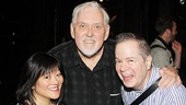 Cinderella's Ann Harada and Peter Bartlett get a backstage visit from Zero Hour writer/star Jim Brochu.