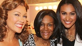 Vanessa Williams introduces Davuluri to her Trip to Bountiful co-star, Tony winner Cicely Tyson (c).