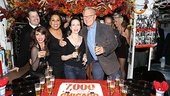 Bebe Neuwirth and Walter Bobbie beam backstage with Chicago cast members Paul C. Vogt (Amos Hart), Donna Marie Asbury (June) and Roz Ryan.