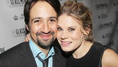 Look who's here for opening night: Celia Keenan-Bolger's close friend (and Merrily We Roll Along co-star) Lin-Manuel Miranda!