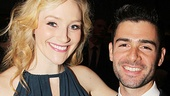 Betsy Wolfe (who'll next appear in Bullets Over Broadway) looks smashing next to her The Last Five Years co-star Adam Kantor.