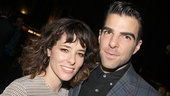 Zachary Quinto spends some time with the divine Parker Posey.