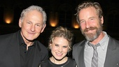 Celia Keenan-Bolger is flanked by an insanely handsome couple, Victor Garber and his partner Rainer Andreesen.