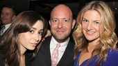 Glass director John Tiffany is supported by his Once Girls: original star Cristin Milioti and new leading lady Joanna Christie!