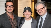 Director David Bar Katz hangs out with Waiting for Godot/No Man's Land star Billy Crudup and actor John Ellison Conlee.