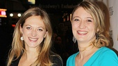 Actresses Marin Ireland and Tina Benko are excited for a night at the theater.