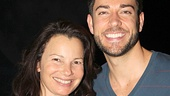 TV vets unite! First Date star Zachary Levi welcomes Fran Drescher backstage at the Longacre Theatre.