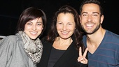 Fran Drescher gets between First Date's adorable stars, Krysta Rodriguez and Zachary Levi.
