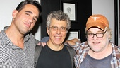 Eric Bogosian receives starry opening night support from Bobby Cannavale (his co-star in the 2010 short F—K) and Philip Seymour Hoffman (who directed Bogosian in 2005's The Last Days of Judas Iscariot at the Public).