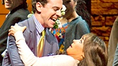 Rob McClure as Jack, Brynn O'Malley as Betsy and the Company of Honeymoon in Vegas