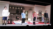 Philip Ettinger, Tracee Chimo, Molly Ranson and Michael Zegen take their bows on opening night of the hilarious (and heartbreaking) comedy Bad Jews.