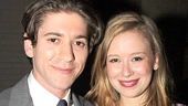 Michael Zegen (Boardwalk Empire) poses with Molly Ranson, who plays his onstage shiksa girlfriend in Bad Jews.