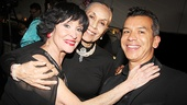 Chita Rivera gets a big hug from legendary dancer and actress Carmen de Lavallade and Broadway choreographer Sergio Trujillo (Jersey Boys).