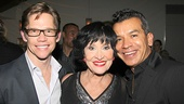 Actor Jack Noseworthy and his boyfriend Sergio Trujillo join Broadway legend Chita Rivera for a photo op.