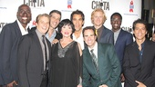 Chita Rivera joins all of her dancing boys for a lively snapshot.