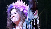 Mary Bridget Davies basks in the peace and love as legendary singer-songwriter Janis Joplin.