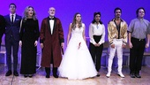 Romeo & Juliet stars Stan Demidoff, Kathryn Meisle, David Garrison, Elizabeth Olsen, Daphne Rubin-Vega, Dion Mucciacito and Harry Ford line up for their opening night curtain call.