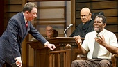 Patrick Page as Rufus Buckley, Fred Dalton Thompson as Judge Noose, & John Douglas Thompson as Carl Lee Hailey in A Time to Kill