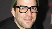 The Glass Menagerie headliner Zachary Quinto stops by to support his Broadway neighbors on 45th Street!