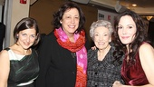 MTC's Artistic Director Lynne Meadow is flanked by producer Mandy Greenfield (l.), Mary-Louise Parker and her mother, Caroline.